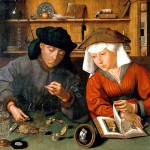 Cambiavalute con la moglie, 1514, di Quentin Metsys