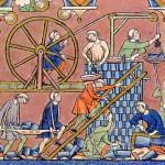 Costruzione di una città in epoca medievale